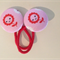 23mm Happy Flower fabric button hairties